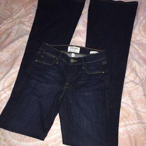 FRAME Le High FLare Sutherland dark wash jeans 24